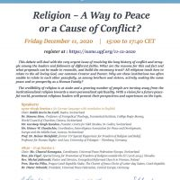 Religion - a Way to Peace or a Cause of Conflict?